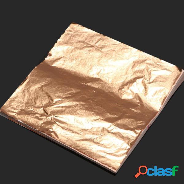 100 PC hojas de papel de aluminio de la hoja de imitación
