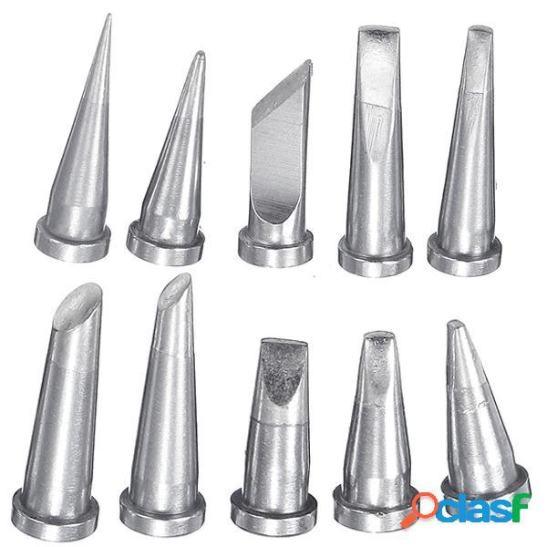 10Pcs Soldadura Puntas de hierro para Weller WSD81 WSP80