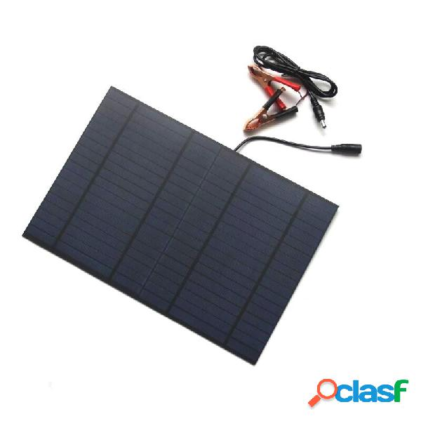10W 18V Polysilicon Solar Panel con DC5521 Bus Batería Clip