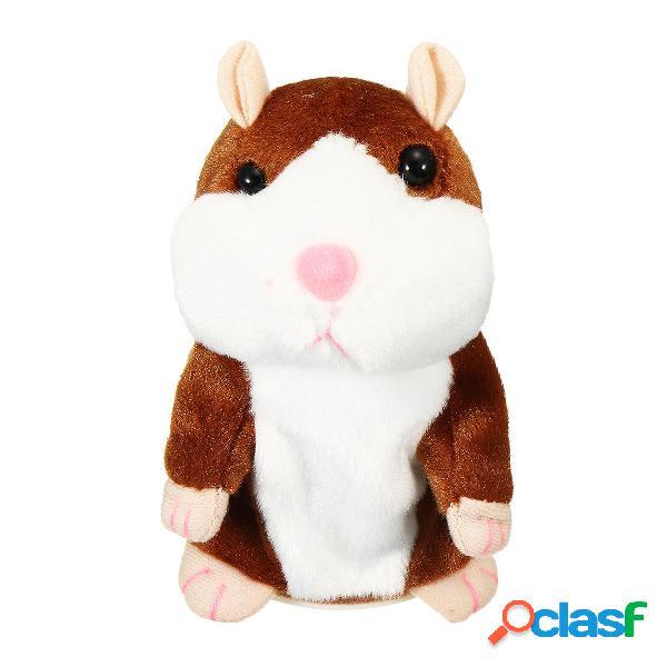 16 / 18cm Hablando Hamster de peluche de juguete para niños