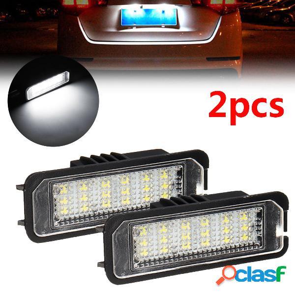 2 piezas 18 LED número de licencia Placa Coche luces para