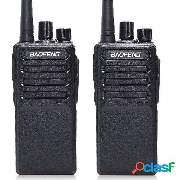 2 piezas Baofeng BF-V9 Mini Walkie Talkie USB de carga