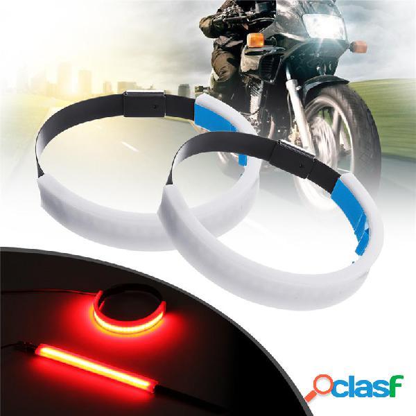 2 x Moto LED Tira de luz de horquilla Señal de giro