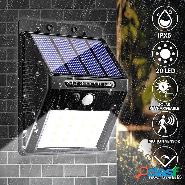 20 LED 400Lumen al aire libre Solar Pared Lámpara