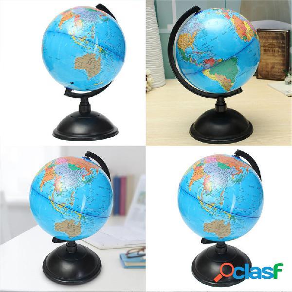 20cm océano azul mapa del mundo mundo con base giratoria