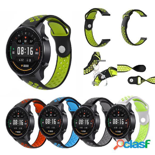 22mm Dual Color Silicona Watch Banda Correa de reloj para