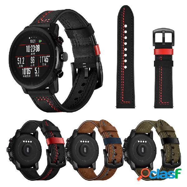 22mm Line Style Piel Genuina Reloj Banda Correa de reloj