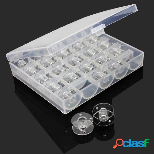 25Pcs / set Bobinas vacías máquina de coser bobinas de