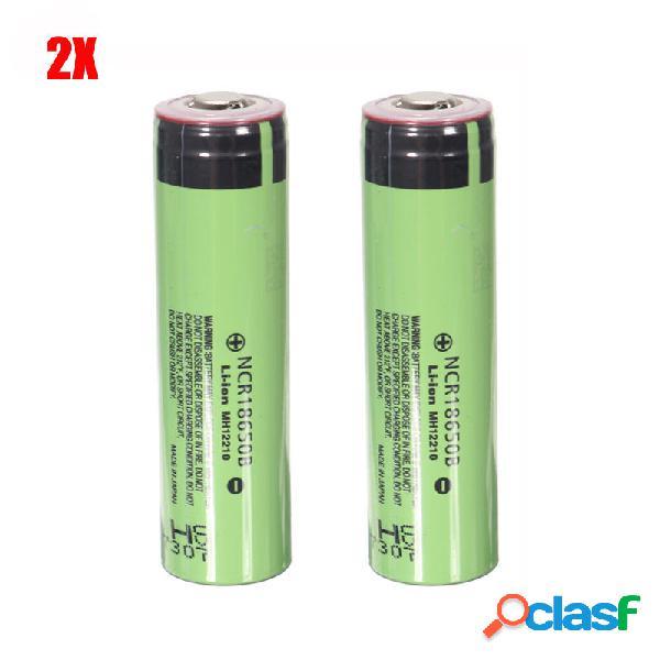 2PCS NCR18650B 3400mAh 3.7V Batería de Li-ion Recargable