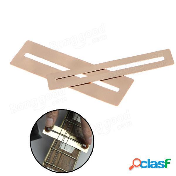 2pcs protector diapasón de acero inoxidable flexible para