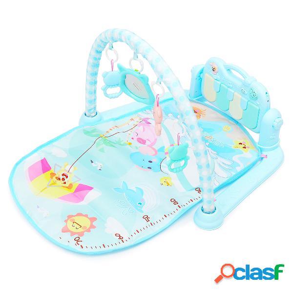 3 en 1 Baby Infant Gym Play Mat Aptitud Música Pedal de