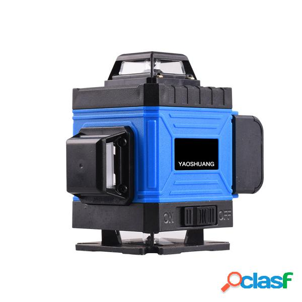 3D 360 ° 14 líneas Verde Láser Nivel Autonivelación