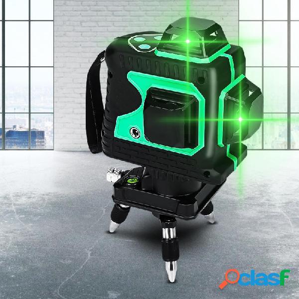 3D Green Auto Láser Nivel 12 Líneas 360 ° Horizontal y