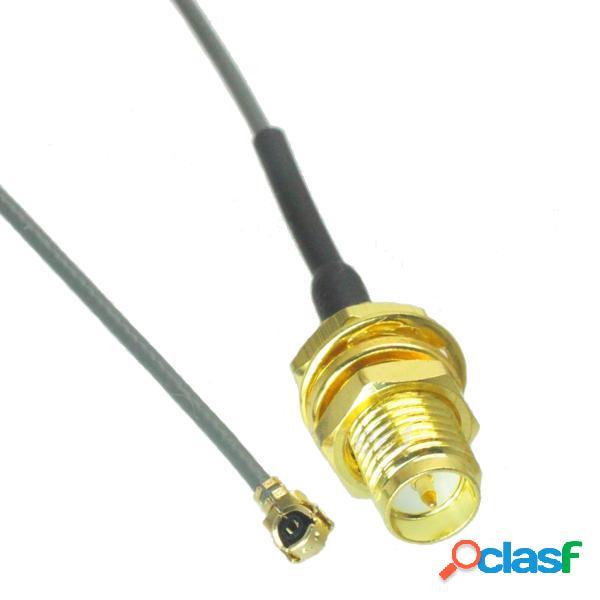 5 piezas 2.4G RP-SMA hembra a U.FL IPX 1.13 cable flexible