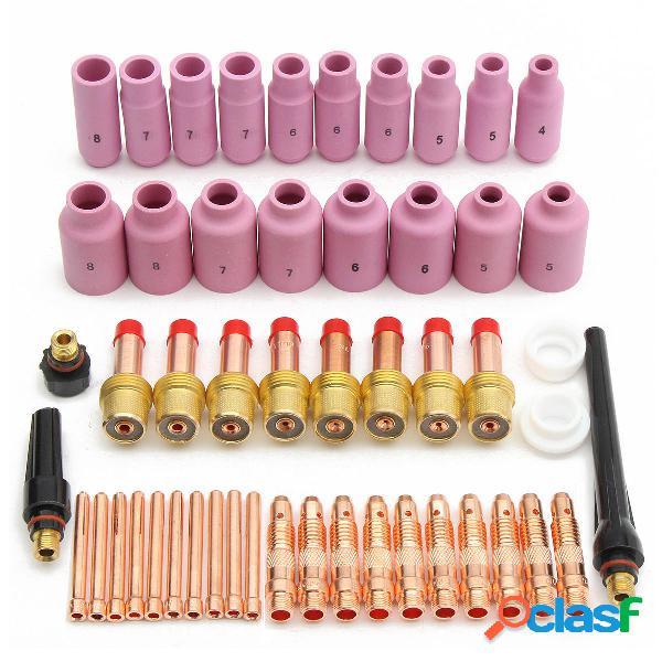 51pcs tig Kit y accesorios de soldadura TIG antorcha