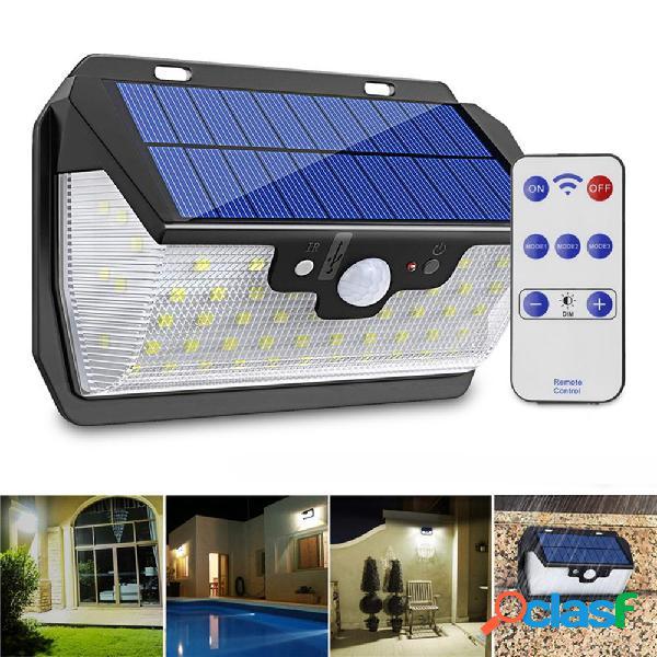 55 LED Solar Motion Sensor Luz 3 modos al aire libre Muro de