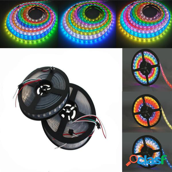 5M WS2812B 5050 RGB Impermeable IP67 300 LED Tira de luz