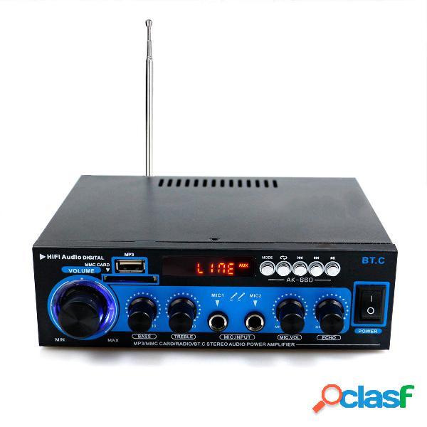 AK-660 1000W Dual Channel bluetooth Power Amplificador HiFi