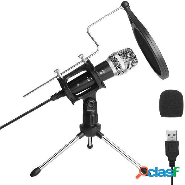 ARCHEER USB Condenser Studio Micrófono PC Micrófono de