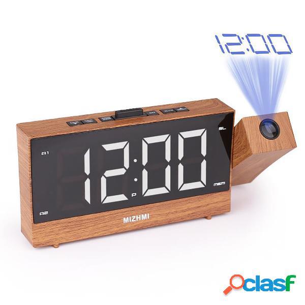 Alarma de proyección digital Reloj LED Alarma dual Radio