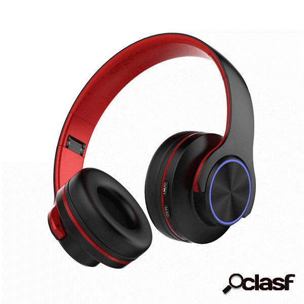 Auriculares inalámbricos Bluetooth V5.0 plegables LED