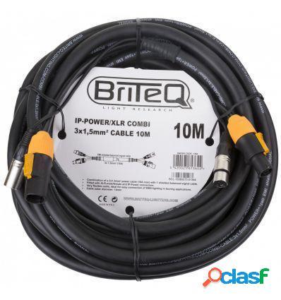 BRITEQ IP-POWER/XLR COMBI CABLE 10M