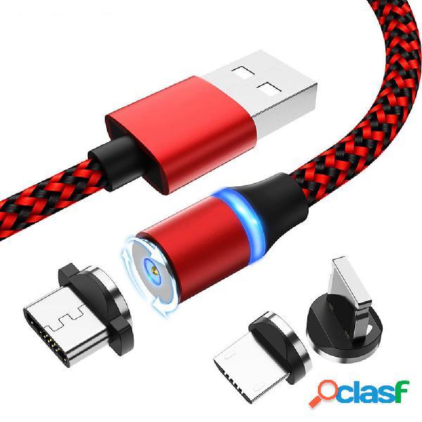 Bakeey 2.4A Type C Micro USB luz LED Cable de datos