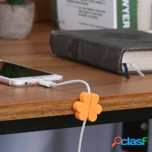 Bakeey 4PCS Clover Auricular Cable USB Cable enrollador