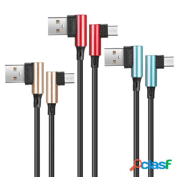 Bakeey 90 grados Reversible 2.5A micro cable de datos de
