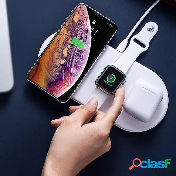 Baseus 3 en 1 cargador inalámbrico de carga Pad para iPhone