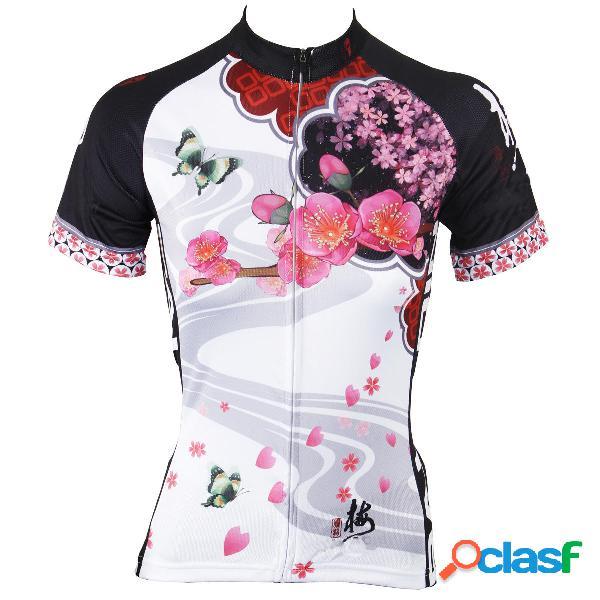 Camisa de ciclismo para mujer para mujer, mangas de