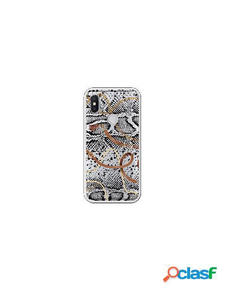 Carcasa Animal Print Serpiente cadenas transparente Xiaomi
