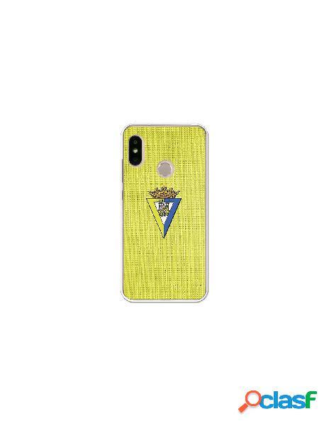 Carcasa Oficial Cádiz textura amarilla Xiaomi Mi A2 Lite