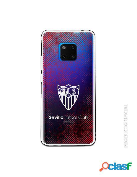 Carcasa Oficial Sevilla Escudo semitono rojo Transparente