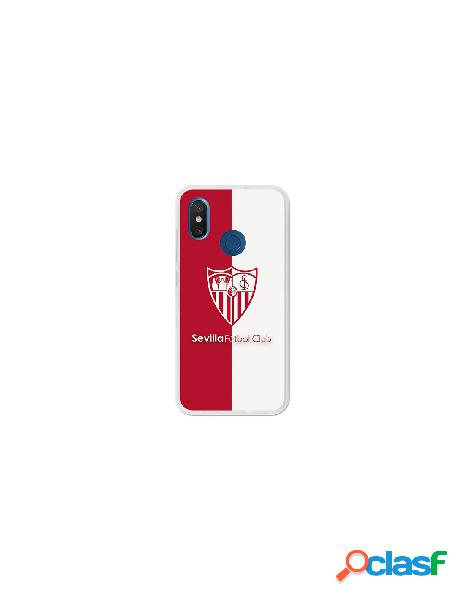 Carcasa Oficial Sevilla FC bicolor para Xiaomi Mi 8