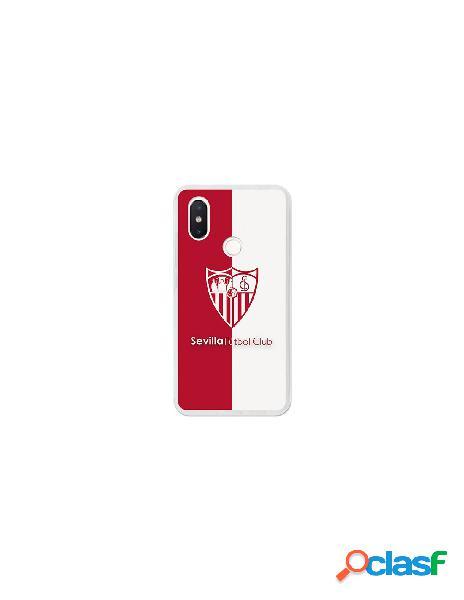 Carcasa Oficial Sevilla FC bicolor para Xiaomi Mi 8 SE