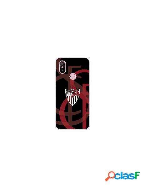 Carcasa Oficial Sevilla FC fondo escudo para Xiaomi Mi 6X