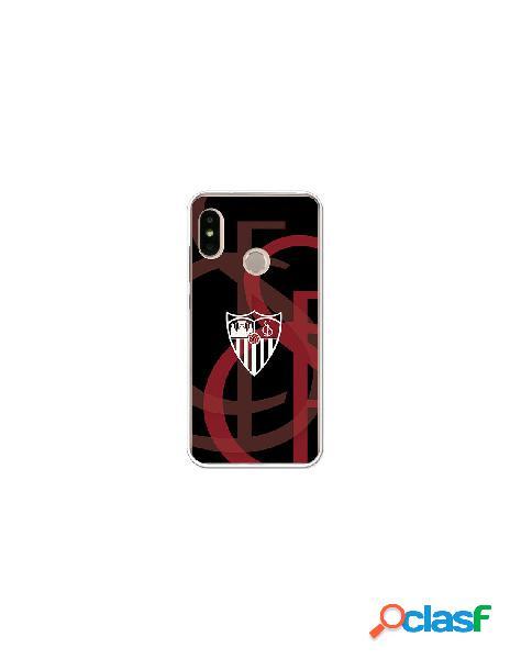 Carcasa Oficial Sevilla FC fondo escudo para Xiaomi Mi A2