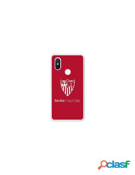 Carcasa Oficial Sevilla FC monocromo para Xiaomi Mi 8 SE
