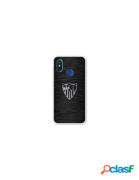 Carcasa Oficial Sevilla FC plata para Xiaomi Mi 8