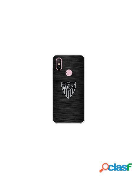 Carcasa Oficial Sevilla FC plata para Xiaomi Mi A2
