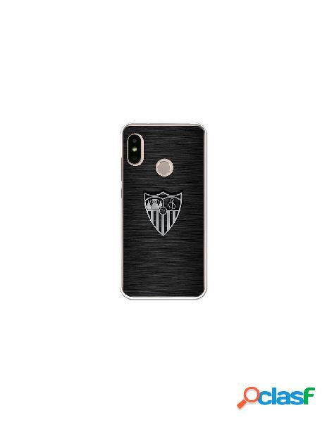 Carcasa Oficial Sevilla FC plata para Xiaomi Mi A2 Lite