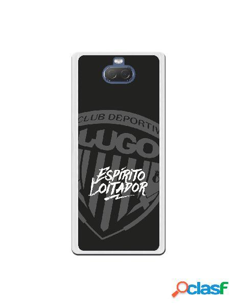 Carcasa para Sony Xperia 10 del Lugo Negro Espirito Loitador