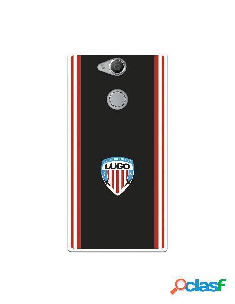 Carcasa para Sony Xperia XA2 del Lugo Escudo Fondo Negro -