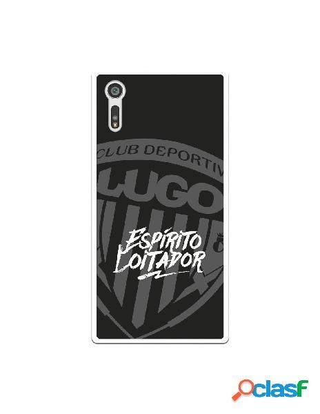 Carcasa para Sony Xperia XZ del Lugo Negro Espirito Loitador