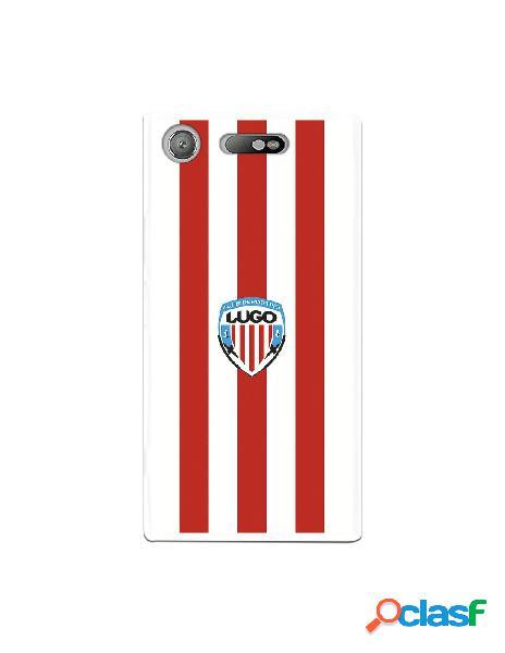 Carcasa para Sony Xperia XZ1 del Lugo Roja y Blanca -