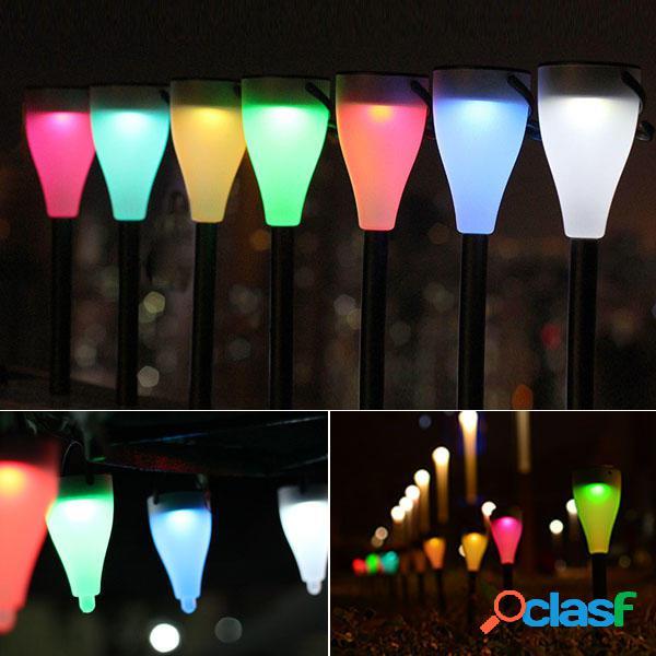 Casas de campo de la energía solar colorido cambiante LED