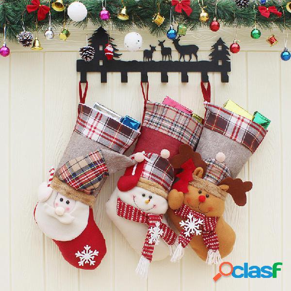 Christmas Candy Bolsa Stocking Santa Claus Calcetín Gift