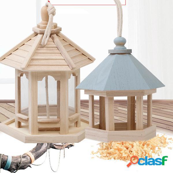 Comedero colgante de madera Wild Bird Hotel al aire libre