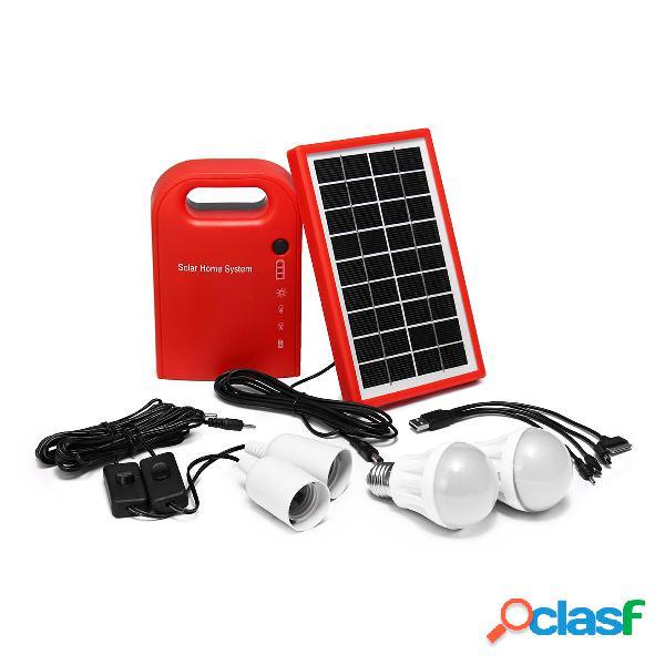 DC Solar Generador de panel de alimentación luz LED
